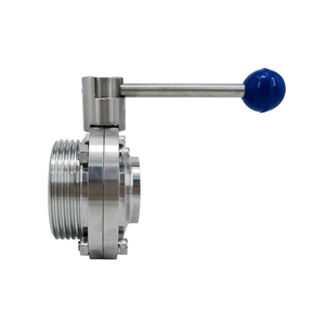 Sanitary Weld Male Butterfly Valves with Pull Handle