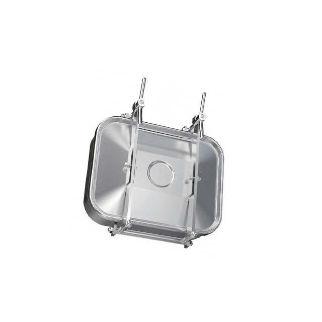 Sanitary Pressure Stainless Steel Rectangle Shape Tank Manway