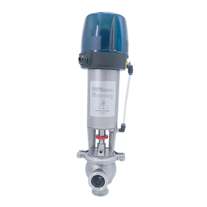 Sanitary L Cut-off Pneumatic Diverter Valves with C-top