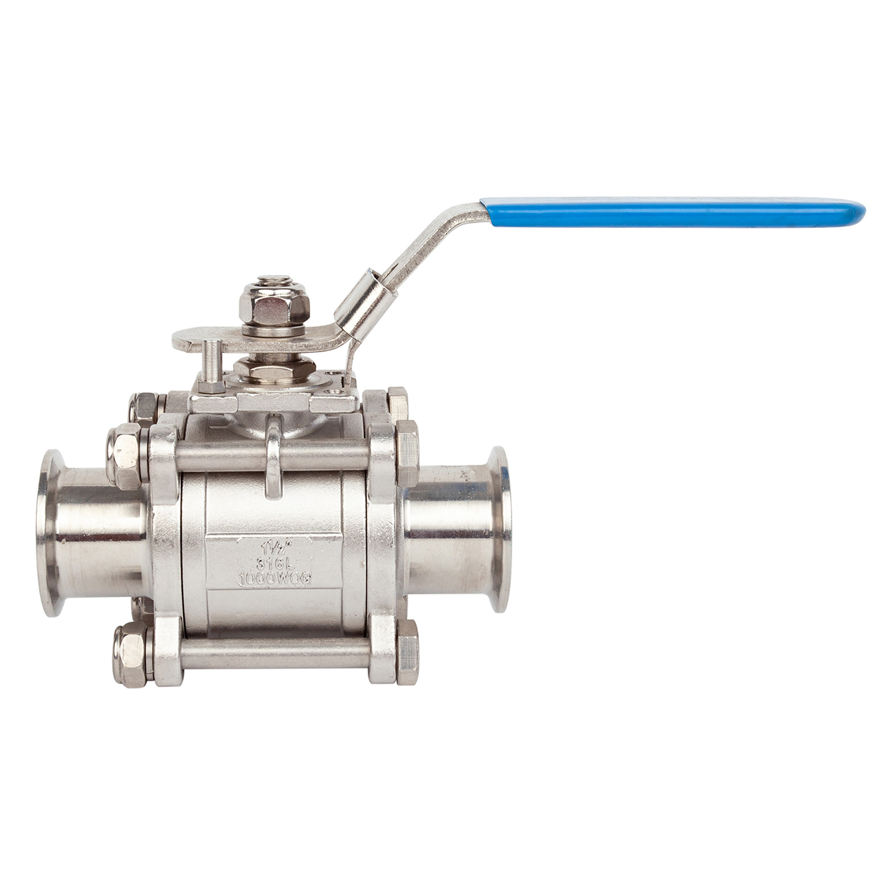 Stainless Steel Sanitary Hygienic Tri Clamp 3-piece Ball Valves