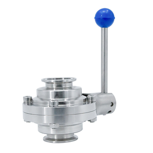 Stainless Steel Sanitary Clamped Butterfly Type Ball Valves