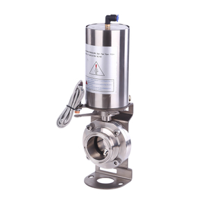 Stainless Steel Pneumatic Sanitary Clamp Butterfly Valves