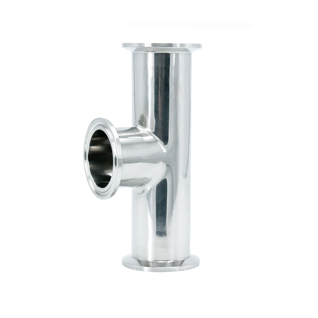 Sanitary Stainless Steel Three Way Y Type Tee