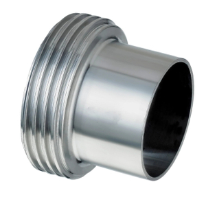 Sanitary Stainless Steel Long Type Male For Union