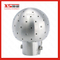 Stainless Steel Ss304 Double Tri Clamp Rotary Tank Washing Ball