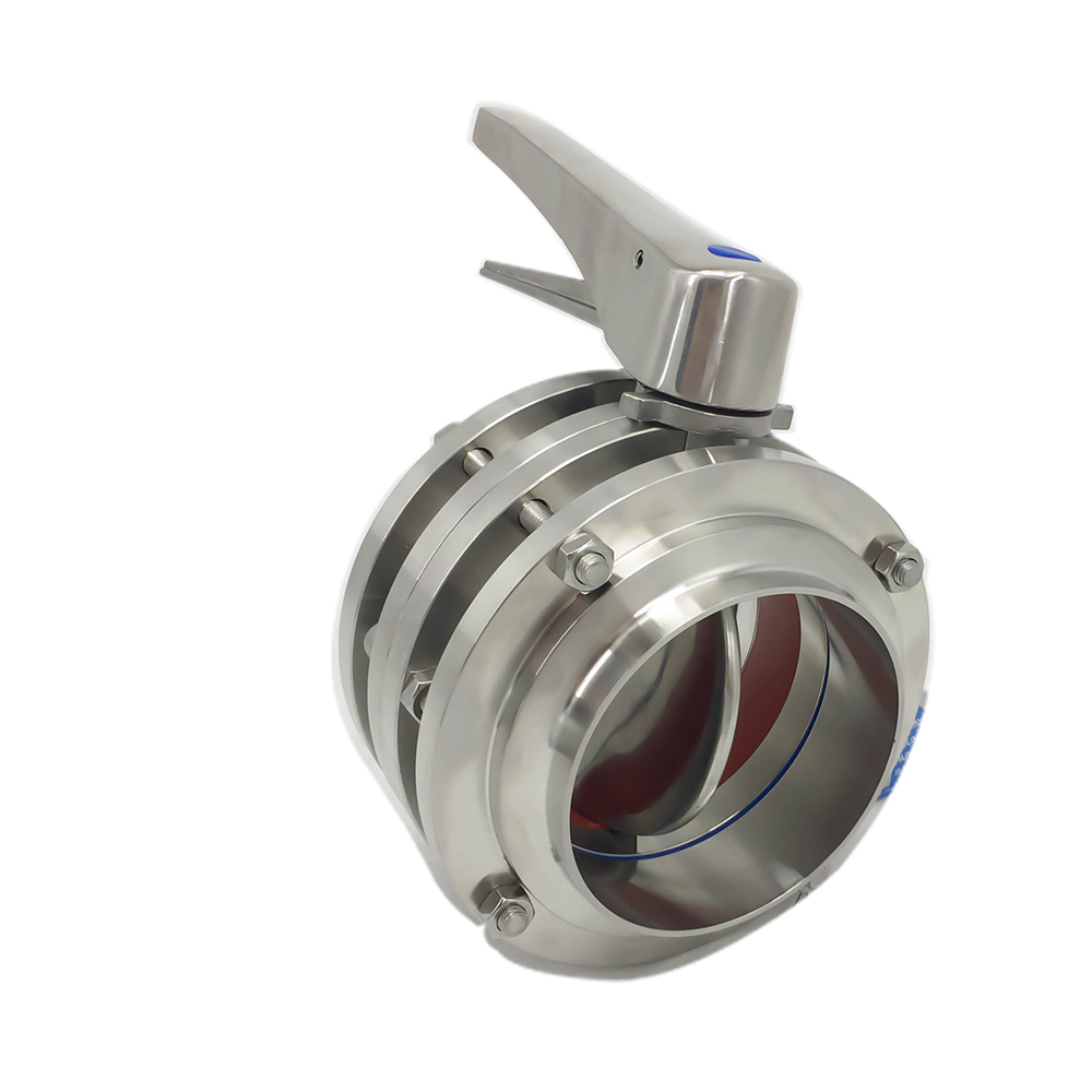 Sanitary Stainless Steel Aseptic 3-piece Manual Butterfly Valves