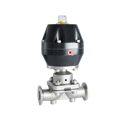Sanitary Stainless Steel Pneumatic Actuator Straight Diaphragm Valve