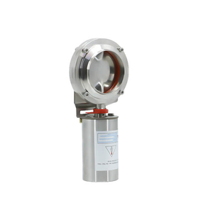 Stainless Steel Pneumatic Actuated Sanitary Weld Butterfly Valves