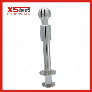 Stainless Steel 316 Hygienic Tri Clamp CIP Revolving Spray Ball