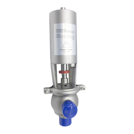 Stainless Steel Sanitary Hygienic Pneumatic L Diverter Valves