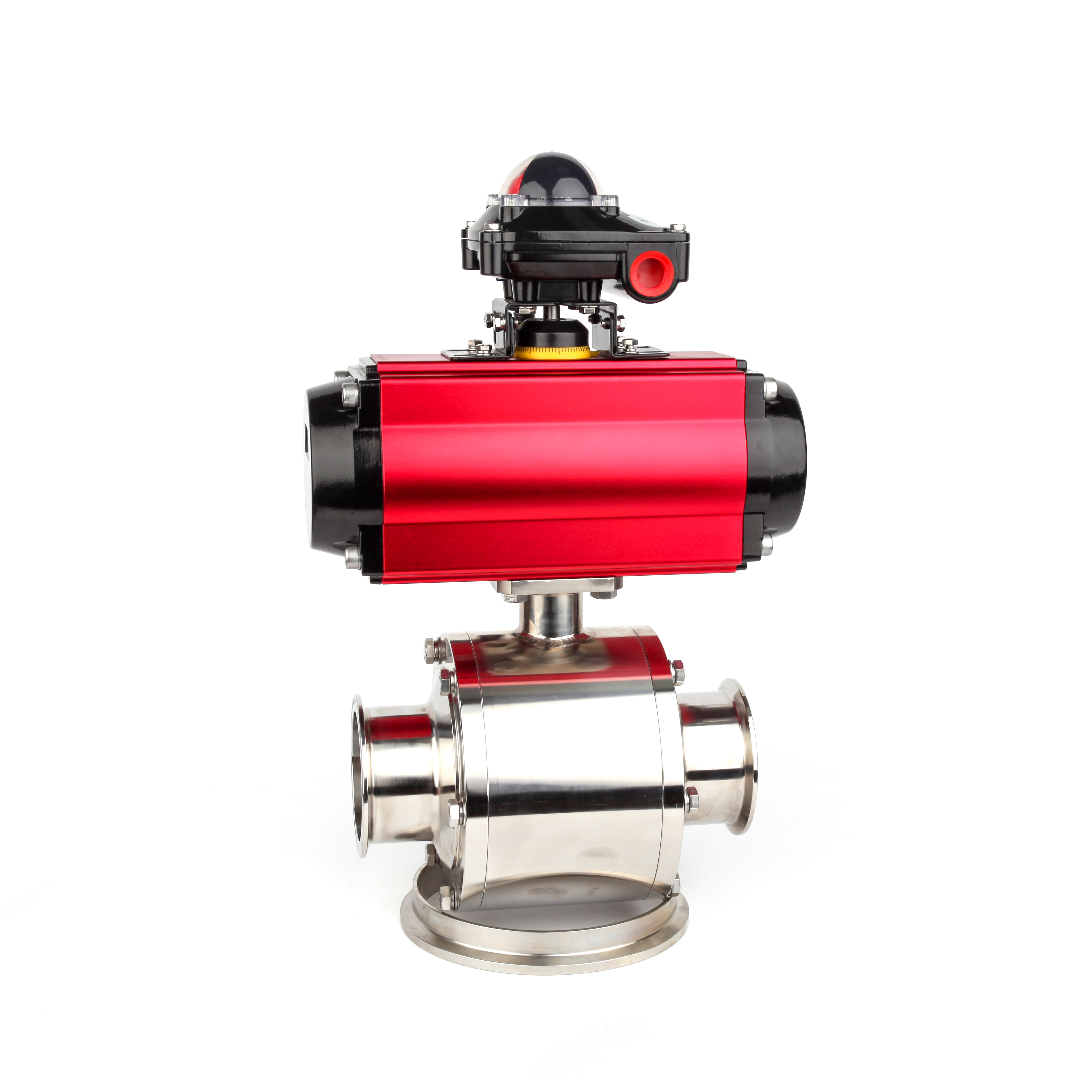 High Quality Sanitary Non-retention Full Port Pneumatic Ball Valves