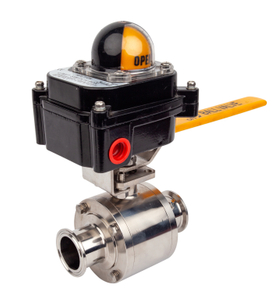 Sanitary Non-retention Manual Ball Valves with Proximity Switch