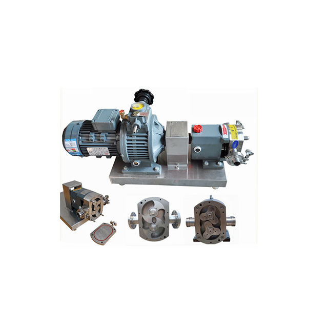 ZB3A-78 7.5KW Stainless Steel Sanitary Hygienic Lobe Rotary Pump for Cheese