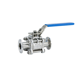 Sanitary Stainless Steel Three Pieces Clamp Ball Valve