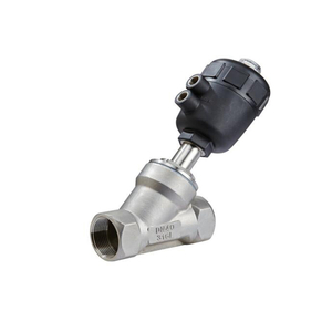 Sanitary Stainless Steel Pneumatical Angle Seat Valve with Plastic Actuator